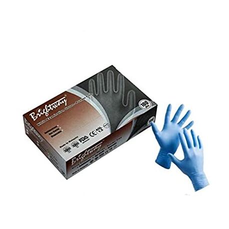 Nitrilové rukavice modré nepudrované
