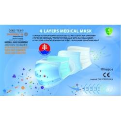 Unisexové 4 - vrstvové filtračné rúško